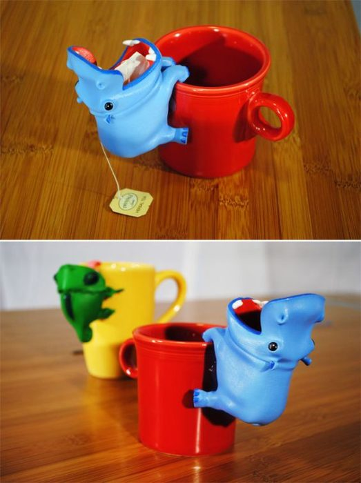 Para poner el té de hipopótamo