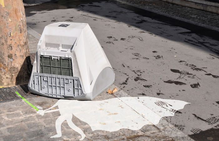 Arte en las calles de París - Darth vader blanco