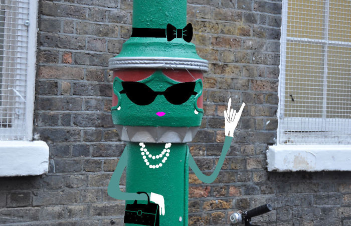 Arte en las calles de París - mujer verde