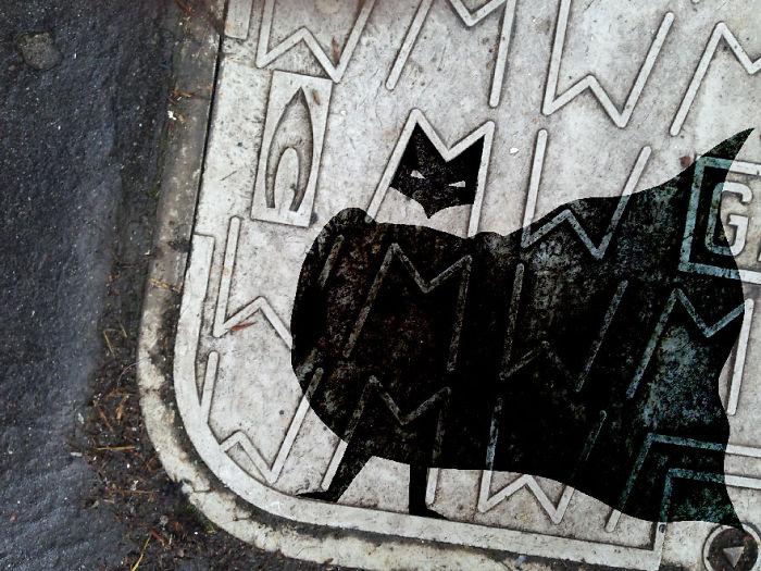 Arte en las calles de París - batman