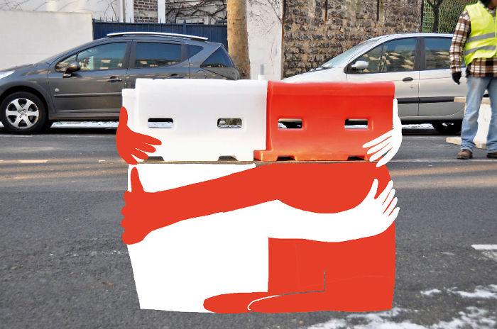 Arte en las calles de París - Basura abrazada