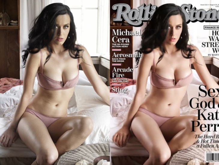 Celebridades usan photoshop - Katy Perry