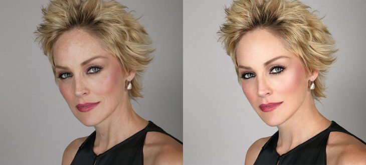 Celebridades usan photoshop - Sharon Stone