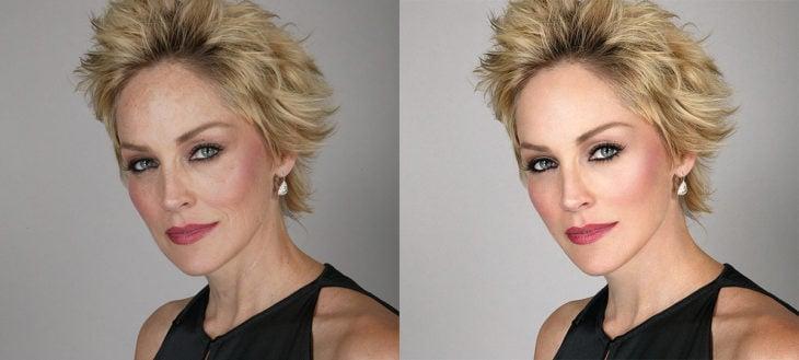 Celebridades usan photoshop - Sharon Stone