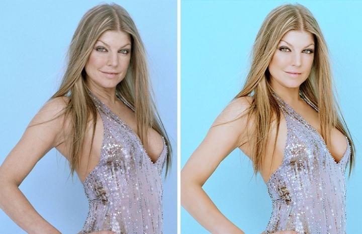 Celebridades usan photoshop - Fergie