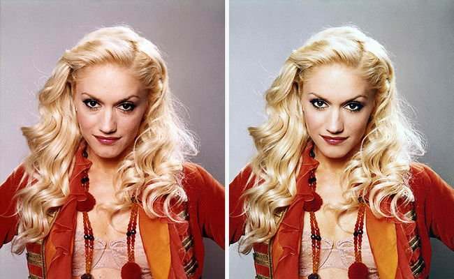 Celebridades usan photoshop - Gwen Stefani