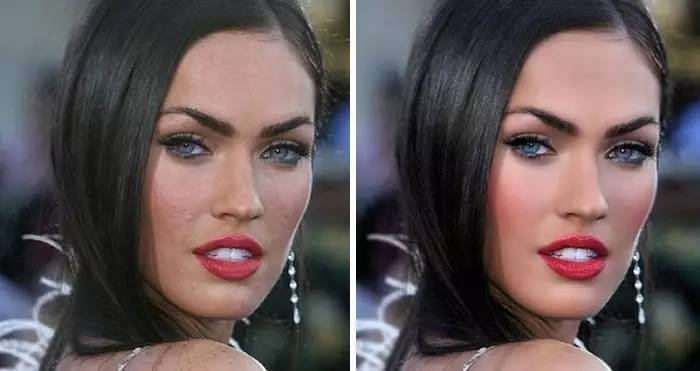 Celebridades usan photoshop - Megan Fox