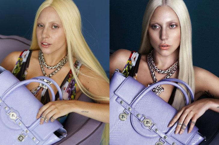 Celebridades usan photoshop - Lady Gaga
