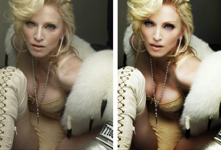 Celebridades usan photoshop - Madonna photoshop