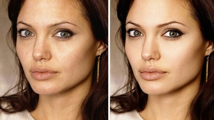 Celebridades usan photoshop - Angelina Jolie