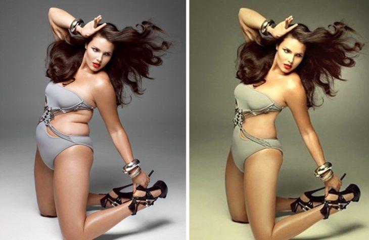Celebridades usan photoshop - Candice Huffine