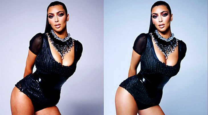 Celebridades usan photoshop - Kim Kardashian