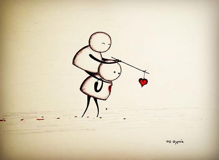 Ilustraciones Gypsie - jugando con tu corazón