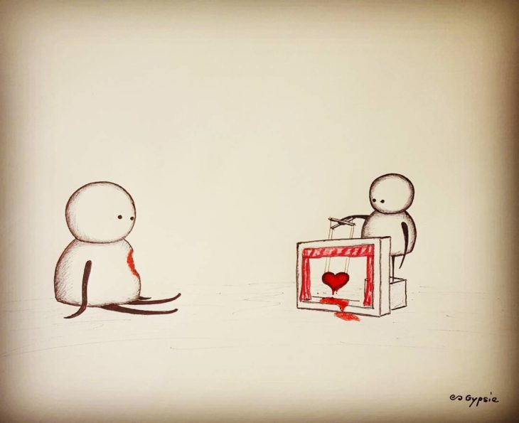Ilustraciones Gypsie - títere con el corazon