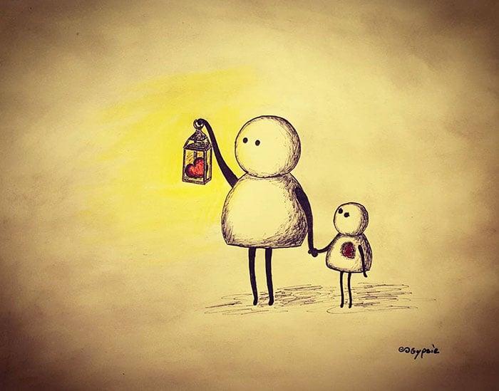 Ilustraciones Gypsie - alumbrando con el corazon