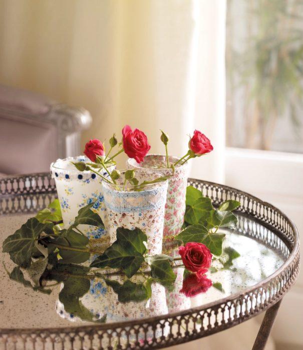 centros de mesa ehca con vasos