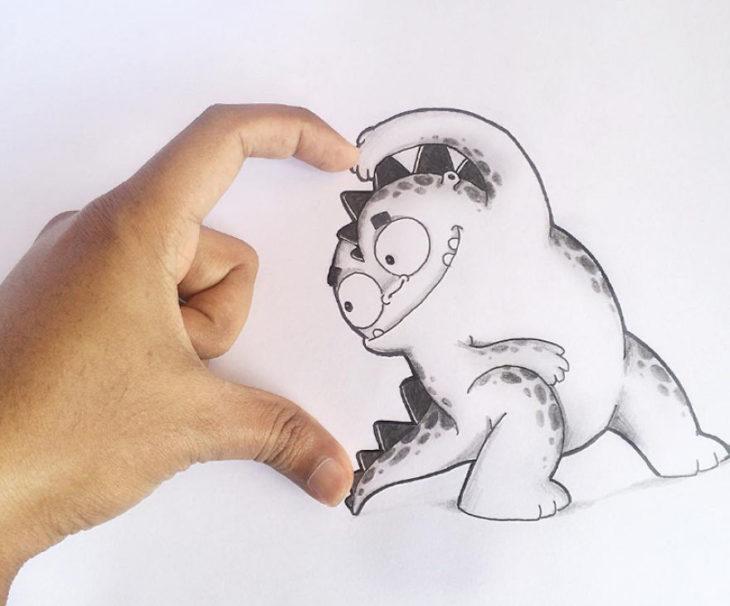 Animaciones Drogo haciedo un corazòn