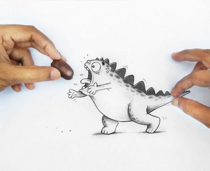 Animaciones Drogo queriendo chocolate