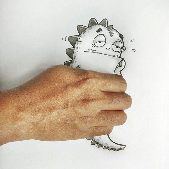 Animaciones Drogo atrapado en la mano
