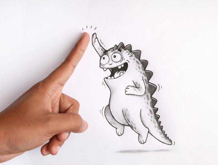 Animaciones Drogo chocando la mano