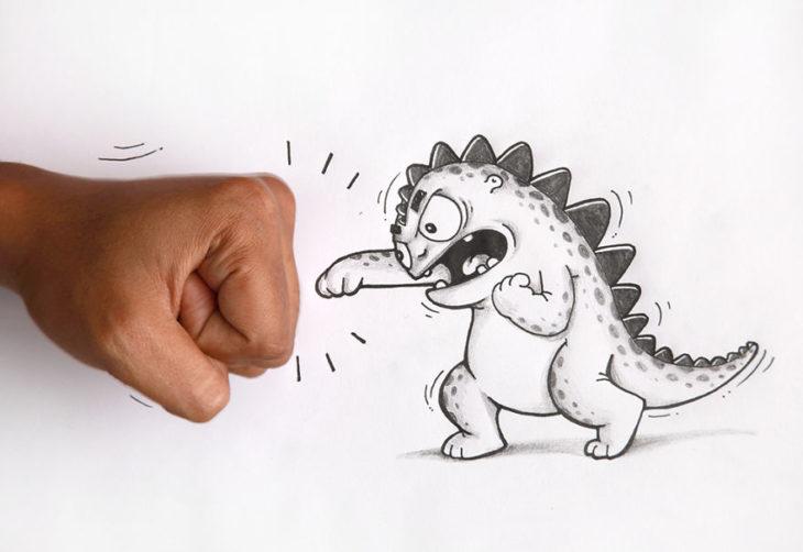 Animaciones Drogo peleando