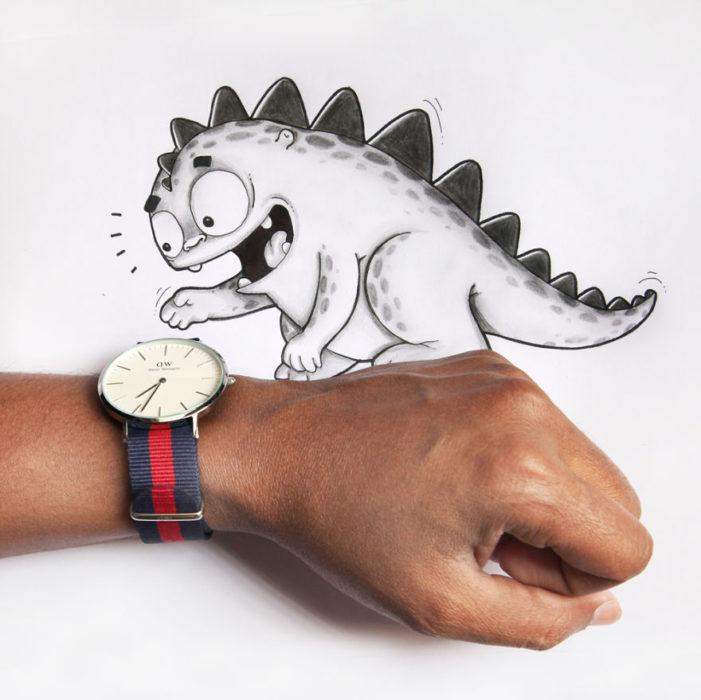Animaciones Drogo viendo la hora