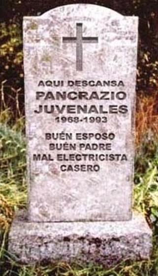 Tumbas graciosas - mal electricista casero
