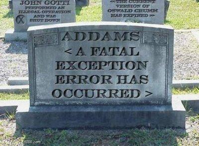 Tumbas graciosas - error fatal