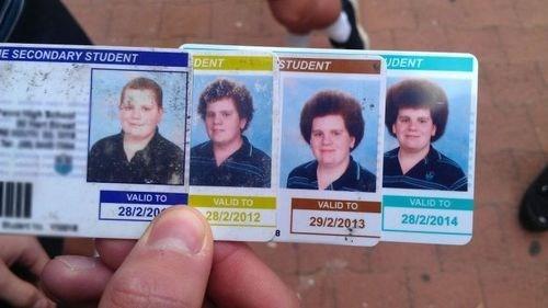 Comparacion credencial de estudiantes año con año