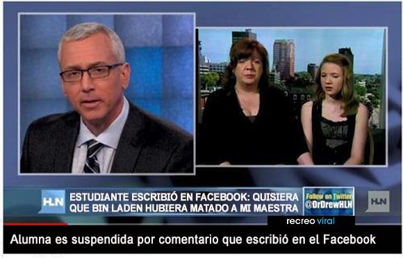 Alumna suspendida por comentario en el facebook