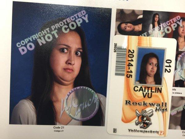Foto graciosa credencial de estudiantes