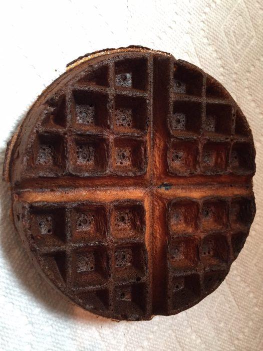 Fails en la cocina - waffle quemado