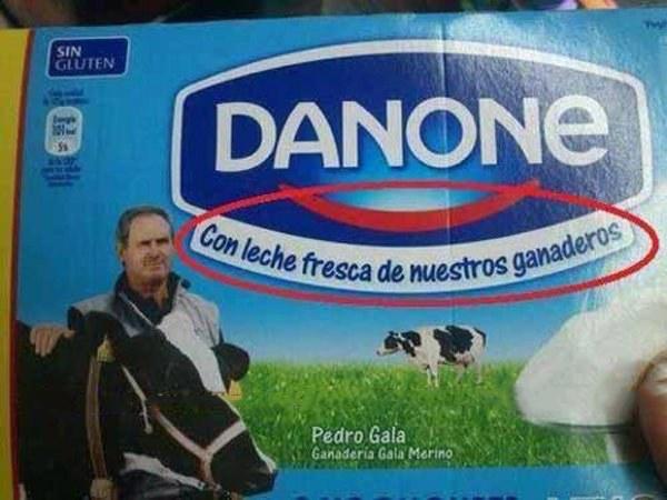 Danone con leche fresca de nuestros ganaderos