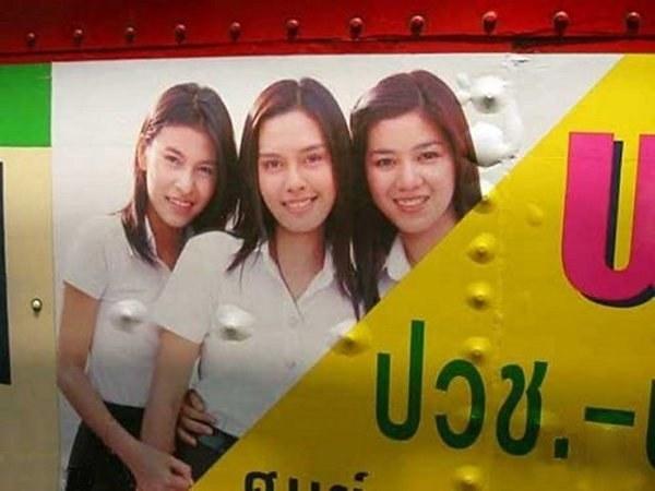 Publicidad fail camión tres chicas