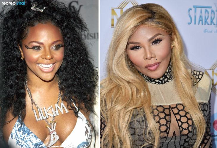 Cirugías. Lil Kim antes y después