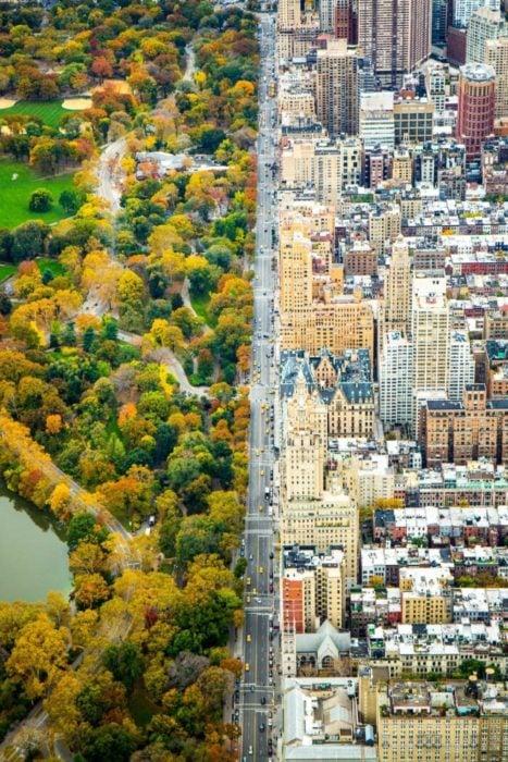 Fotos impresionantes y hermosas. Los dos lados de NY