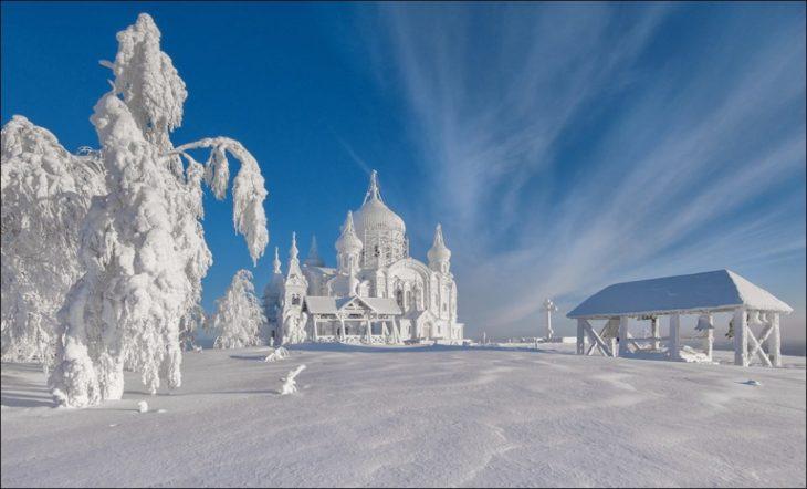Fotos impresionantes y hermosas. paisaje nevado en moscú