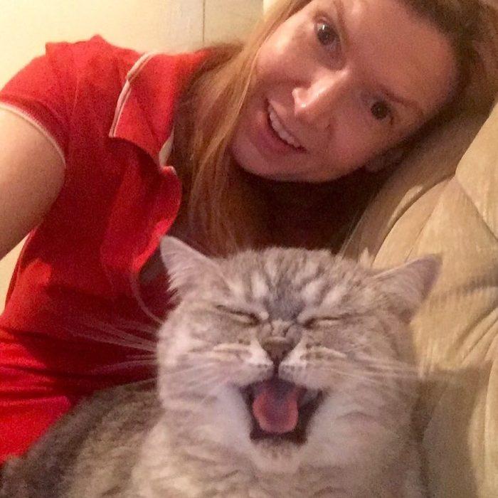 gatito sonriendo para la selfie