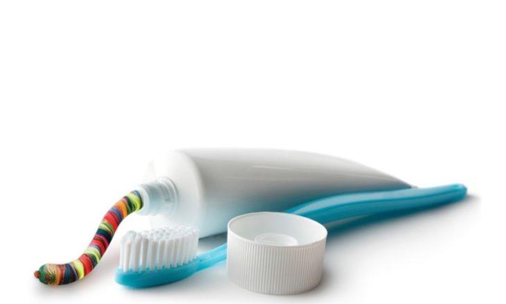 como pasta de dientes