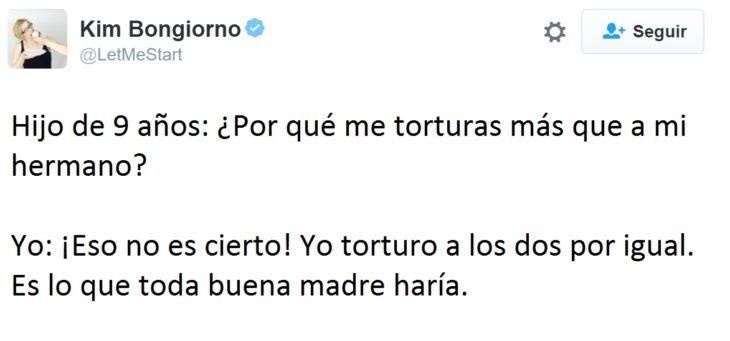 Hilarantes tuits mamás - torturo a los dos por igual