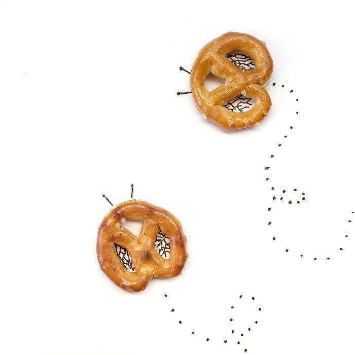 mariposas de pretzels
