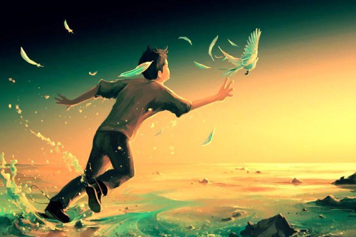 Ilustraciones Cyril Rolando - niño volando