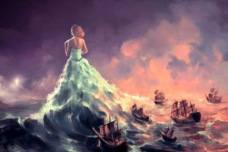 Ilustraciones Cyril Rolando - mujer mar