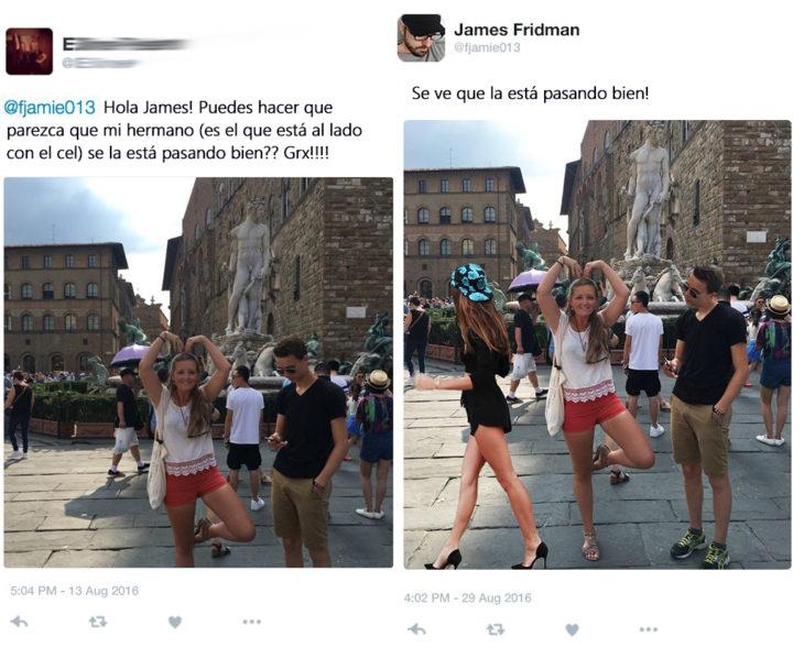 James Fridman- le pide que su hermano parezca interesado