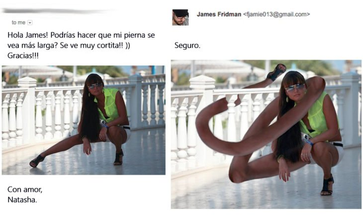 James Fridman- le pide su pierna más larga