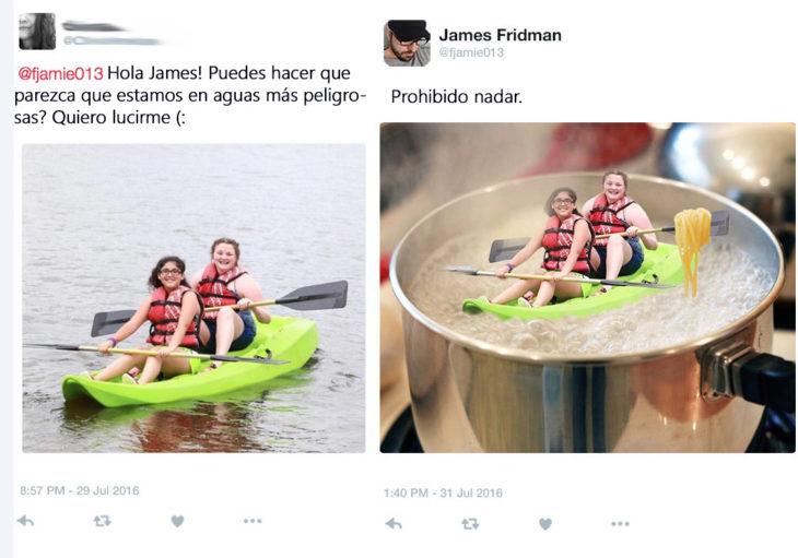 James Fridman- le pide nadar en aguas peligrosas