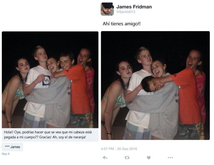James Fridman- le piden su cabeza unida a su cuerpo