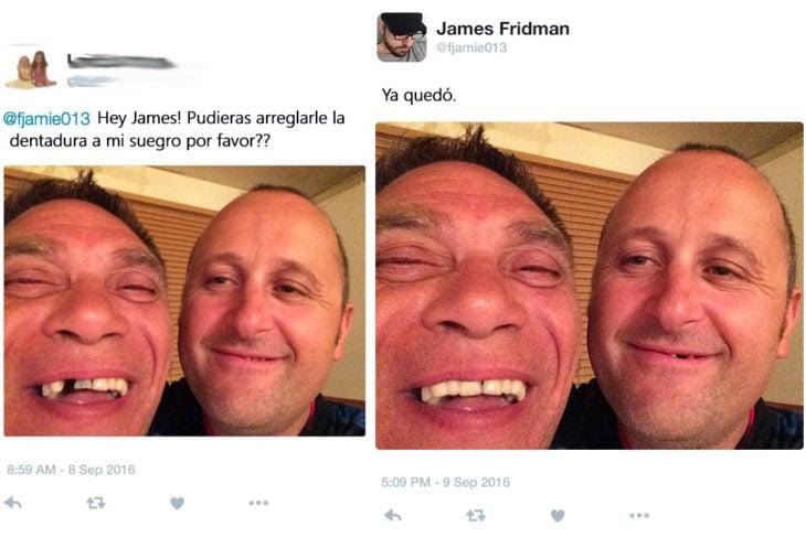 James Fridman- le piden quitarle lo chimuelo