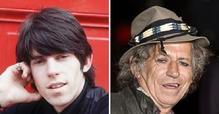 keith richards antes y después