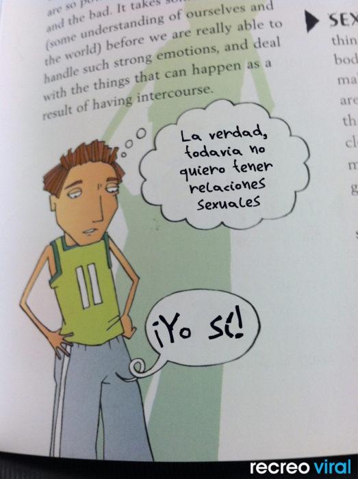 Cosas graciosas en libros de texto - joven y su pene teniendo una discusión